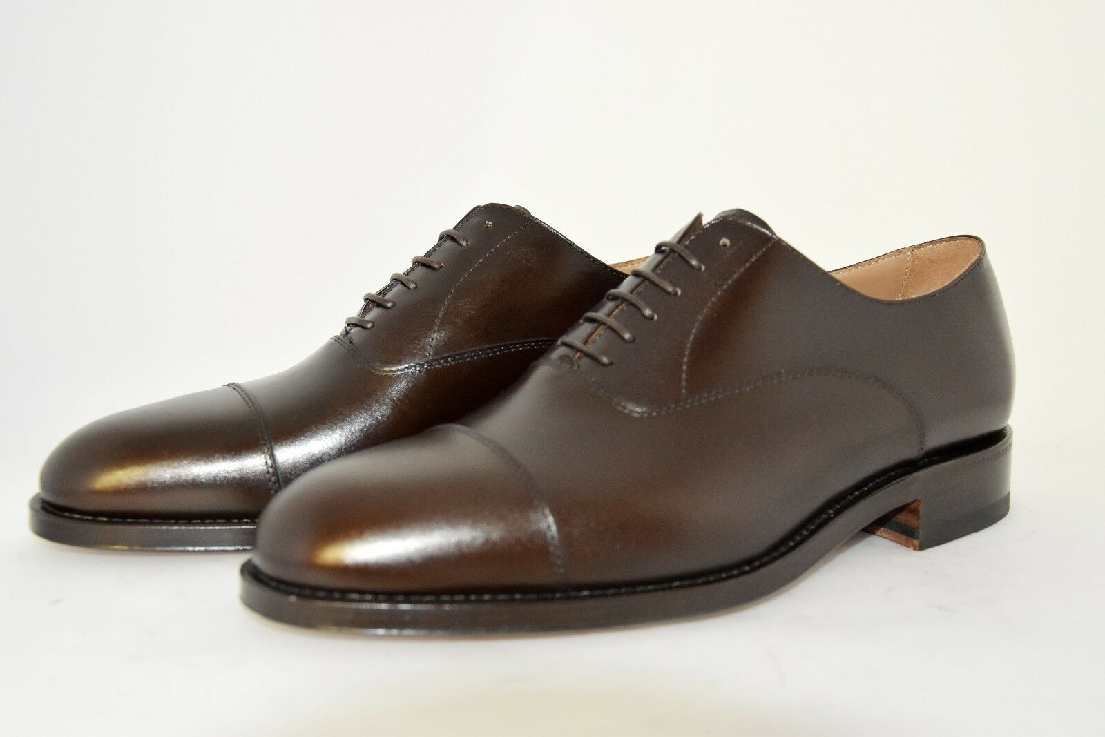 MAN-OXFORD CAPTOE-FRANCESINA-BROWN CALF-VITELLO MARRONE-LEATHER SOLE-SUOLA CUOIO CUOIO SOLE-SUOLA 514fba