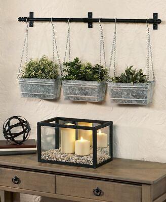 Galvanized Metal Hanging Wall Planter