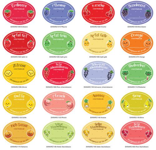 étiquettes conserve Confiture-autocollants budget étiquettes Matt ew-mar210-m