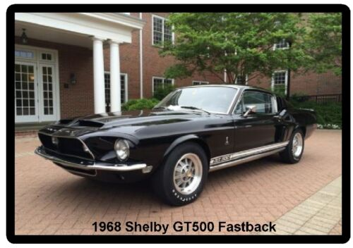 1968 Ford Mustang Shelby GT500 Fastback Auto Refrigerator Tool Box Magnet