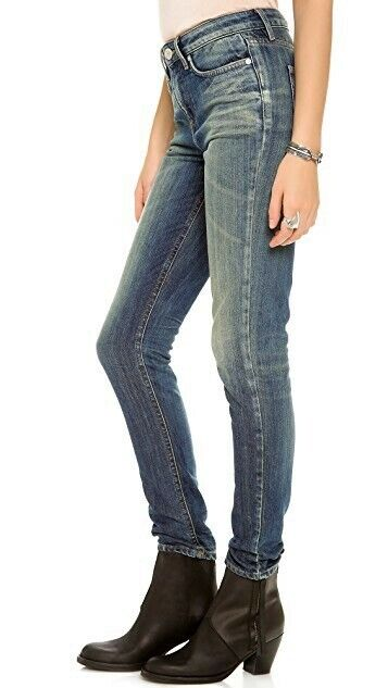 255 NWT Won Hundred Jeans Jessie High Rise Skinny, Vintage Washed bluee, Size 26