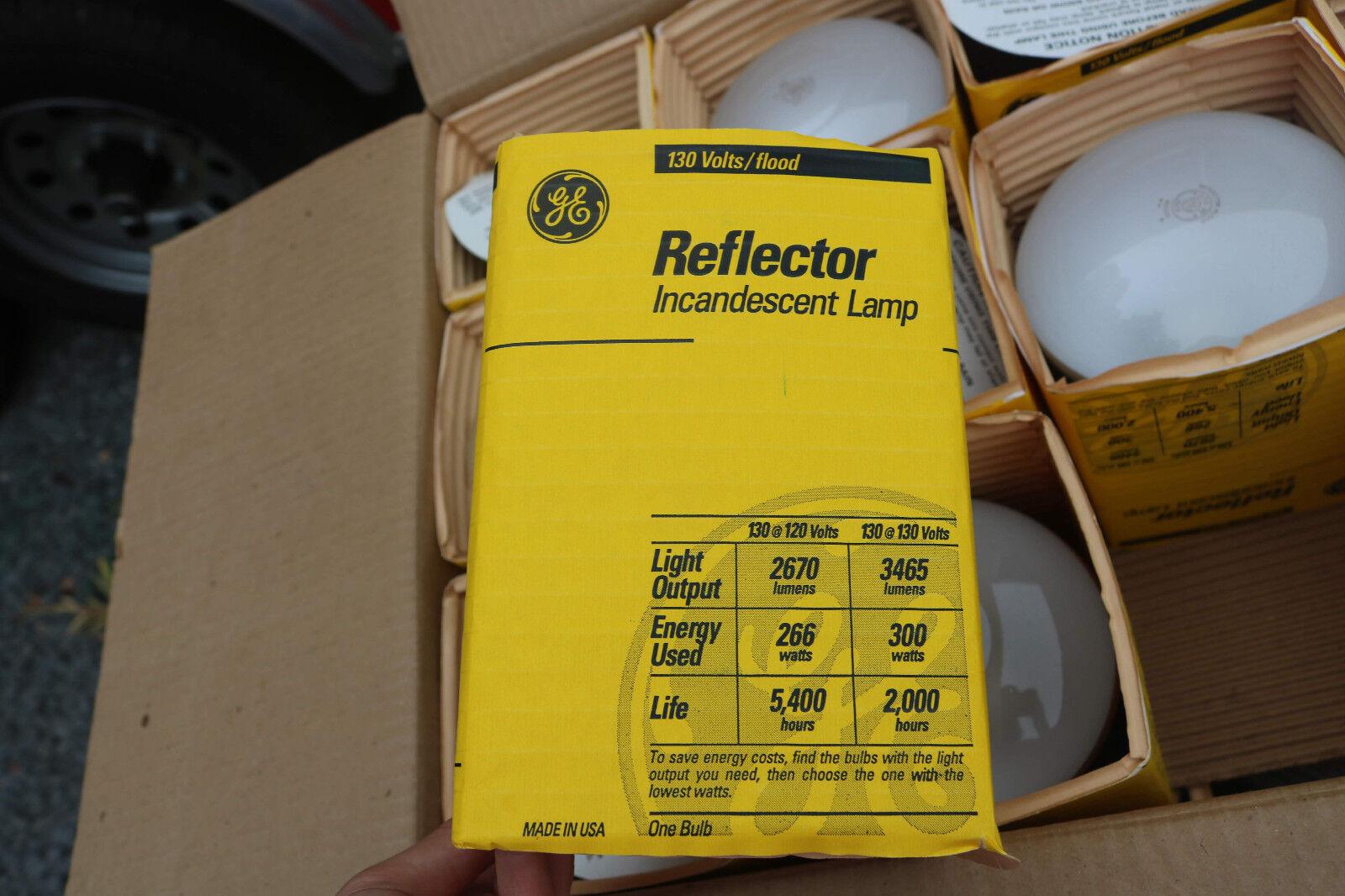 Box of 24 - GE 21215 Incandescent Lamps 300R FL Reflector Flood Light Bulb.