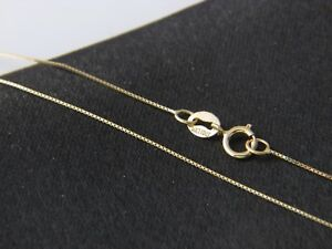 Real-14Kt-yellow-Gold-thin-BOX-Chain-Necklace-Real-14k-Solid-gold
