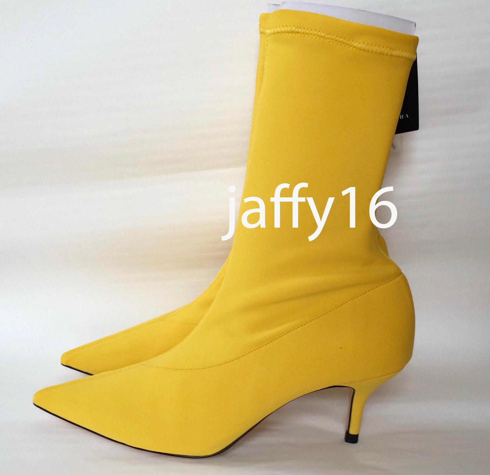 ZARA ZARA ZARA FABRIC HIGH HEEL ANKLE bottes jaune 35-41 REF. 5118 201 0d2aaf