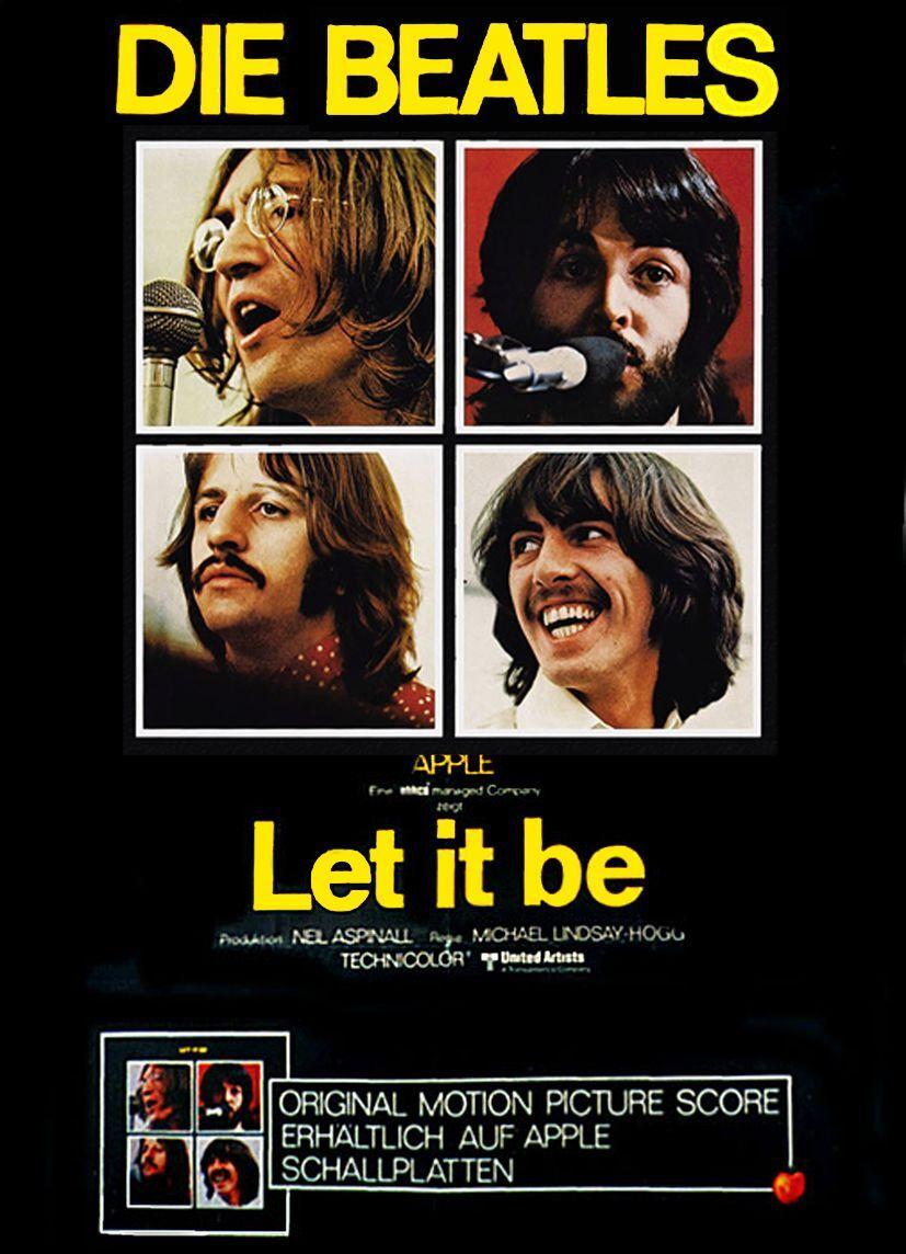 The Beatles Let it be Filmplakat