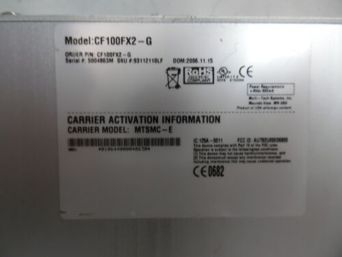 MULTI TECH CF100FX2-G CALL FINDER GSM CELLULAR GATEWAY