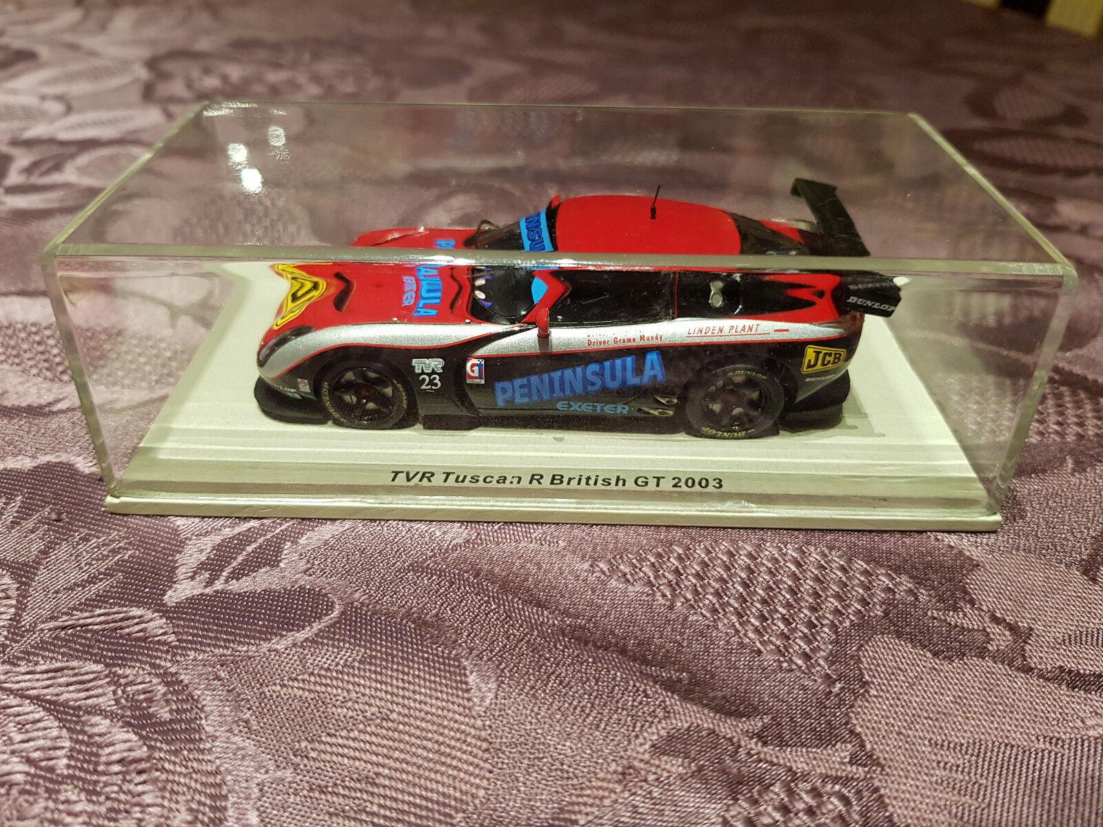 autentico en linea Voiture Spark Model 24 Heures Heures Heures Mans TVR Tuscan R British GT 2003 Box Boîte N°23  envío gratis