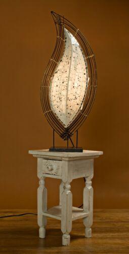 Unusual White Mosaic Table Side Lamp 64 cm high Handmade in Bali