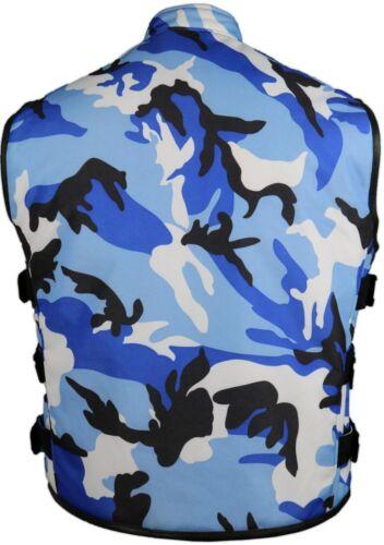 Weste Textil Muster Blau Winddicht Kutte Camouflage Biker Bikerweste XYPq5Y