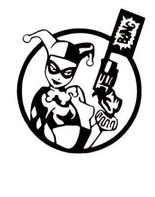 Vinyl Decal Truck Car Sticker Laptop Window - DC Comics Batman Harley Quinn Bang