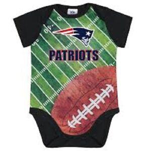 33fde30a Details about NFL New England Patriots Bodysuit Field Design Gerber Infant  Select Size
