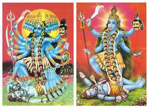 KALI-Postkarte-Maa-Kali-Muttergoettin-Indien-versch-Motive-India-Hinduismus-Shiva
