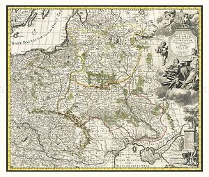 MAP-ANTIQUE-1696-ALLARD-POLAND-LITHUANIA-OLD-LARGE-REPLICA-POSTER-PRINT-PAM0173