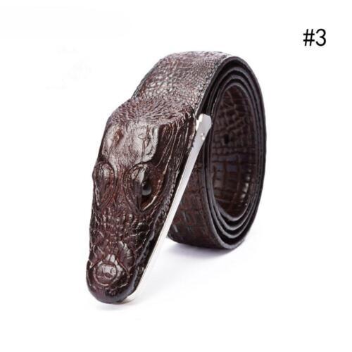 Herren Luxus Kuh Leder Designer Gürtel Männer Ceinture Homme Luxo Krokodil T2N0