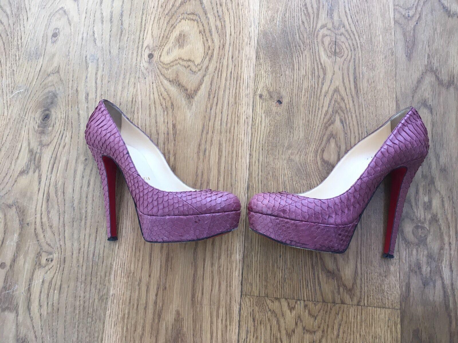 CHRISTIAN LOUBOUTIN  Snakeskin 'white 140' Platform Pumps shoes 36 US 6 UK 3