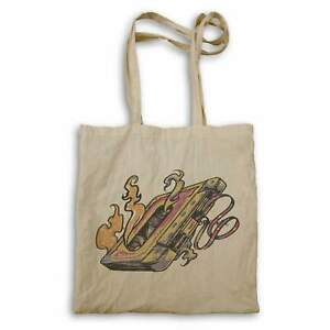 Retro Music Burning Casette Old Time Songs Flames Tote bag hh772r
