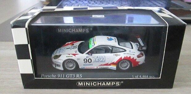 M92 1/43 PORSCHE 911 GT3 RS 1000 KM DE SPA 2004 ICKX RABINEAU TINSEAU MINICHAMPS