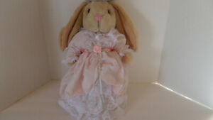 Anco Bunny Rabbit - Plush Jointed - Dress and Bonnet - Vintage!