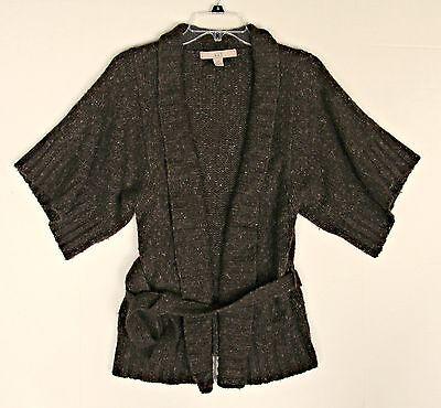 Beautiful Womens Comfy Warm Brown Cardigan Size Medium By XXI Chunky Boucle Wool
