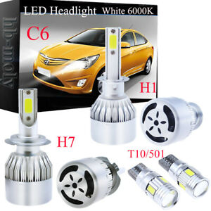 Details About For Vauxhall Vectra C 2002 2008 Side Low High Beam 501 H7 H1 Led Headlight Bulbs