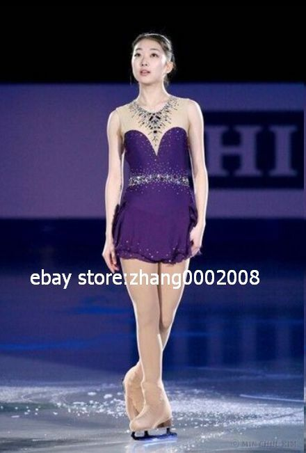 Ice skating dress with crystals.Figure Skating  dress.Baton Twirling Costume  customers first