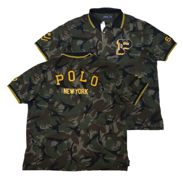 b844e3389a Polo Ralph Lauren Big & Tall Men's Green Camo Classic Fit Mesh Polo Shirt