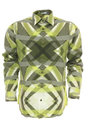 SIGNUM Camicia Tempo Libero Camicia Shirt Kent colletto cotone manica lunga Slim Cut giurisprudenza