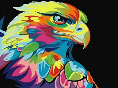 Eagle Colorful Paint By Numbers Kits DIY Number Canvas Painting Hand painted