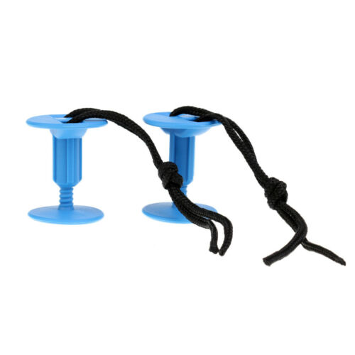 2 Pack Plastic Body Board Leash Plugs Attachment with Cord for Surfboard,