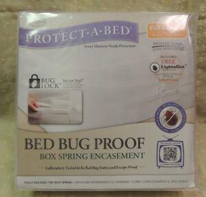 Full XL SafeRest Premium Hypoallergenic Bed Bug Proof Box Spring Encasement
