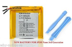 Replacement-internal-battery-for-ipod-Nano-3-3rd-gen-3G-Generation-A1236-4GB-8GB