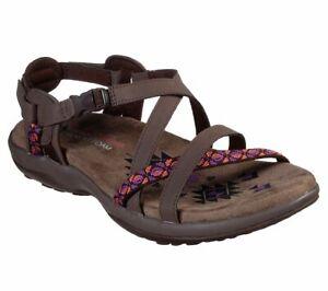 Skechers-Womens-Reggae-Slim-Vacay-Sporty-Casual-Memory-Foam-Sandals-Shoes-40955