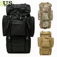 80L Internal Frame Travel Hiking Trekking Camping Tactical Backpack Rucksack Bag