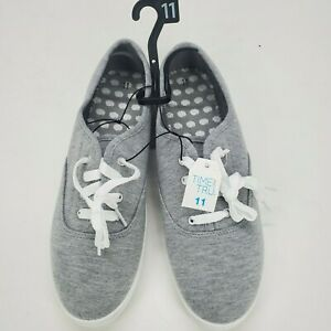 Casual White Lace Up Canvas Shoes size
