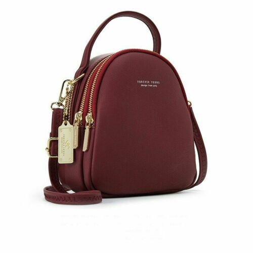 Details about  /Synthetic Leather Backpack Purse for Women Ladies Multi-Function Shoulder Bag