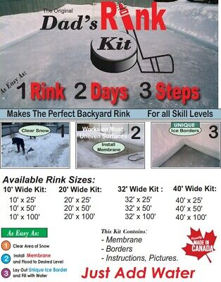 Dad's Rink Kit: 32' x 50' DIY Backyard Ice Rink Kit | eBay