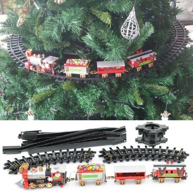 Treno natalizio da su albero di natale con luci suoni Trenino Decorazione