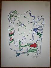 Lapicque Charles Lithographie signée numérotée art abstrait abstraction