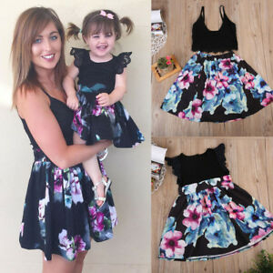 Details About Mommy Me Mother Daughter Matching Fl Beach Dresses Family Outfits Clothes