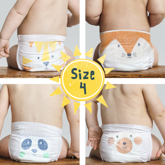 Bio Baby Biodegradable Nappies Size 4 Pack of 34