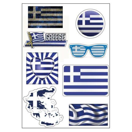 Planche A4 de stickers Grèce autocollant adhésif scrapbooking D07