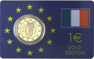 Irlande 1 Euro Celtique Harpe 2002 Prägefrsich Plaqué Or En Coincard-afficher Le Titre D'origine Ri5fztqt-07230230-492536689