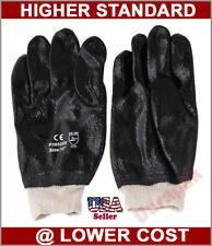 24 Pair Pvc 10 Chemical Liquid Water Resistance Knit Wrist Industrial Gloves L