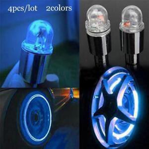 4pcs Blue LED Tyre Tire Valve Caps Light Bike Car Tire led light Valve led light