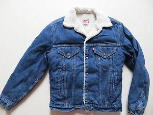 Levi s Jacke Jeansjacke Fell gefüttert Gr. XS, Vintage Indigo, Made ... 6ea8eb7ca1