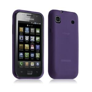 Housse étui coque gel translucide Samsung Galaxy S i9000 couleur Violet