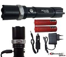 Swat Polizei Cree Led Taschenlampe Zoom 1000 Meter Leuchtweite inkl.2x PowerAkku
