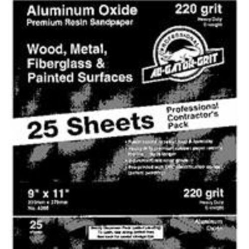 "25 pack Gator Finishing 4209 100 Grit Aluminum Oxide Sanding Sheets 9/"" x 11/"""