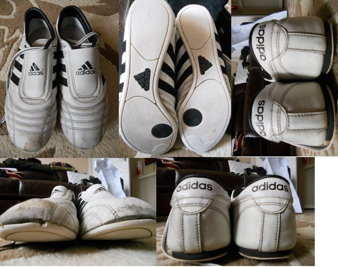 Adidas - Black & White Used Training Shoes Size 7 /41 USED