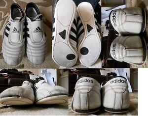 Adidas-noir & Blanc Utilisé Formation Chaussures Taille 7/41 Utilisé-afficher Le Titre D'origine